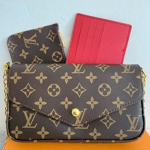 Louis Vuitton felicie crossbody monogram